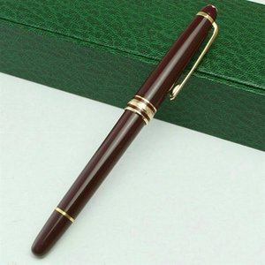 Promotion Wholesale klassischen Luxus Pen # 163 Black Resin Füllfederhalter Büro Lieferanten MB Kugelschreiber mit Seriennummer 0.7mm Refill