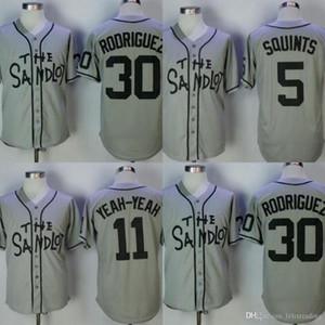 La maglia da baseball Sandlot Benny 'The Jet' Rodriguez 30 Michael 'Squints' Palledorous 5 Alan 'Yeah-Yeah' McCl