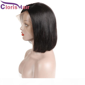 Short Pixie Lace Front Wigs Brazilian Straight Full Lace Human Hair Bob Wig For Black Women Pre plucked Natural Hairline Cheap Bob Wig