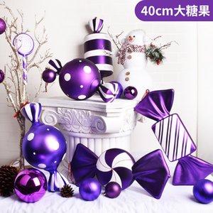 Decorazioni di Natale caramelle pendente 38CM viola dipinta caramelle! merci di esportazione! vendita singola