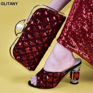Nuevas mujeres de la llegada Zapatos y bolsos para que coincida con Set Italian Shoes and Bags Juego verano de las mujeres 2019 Slip-On Fiesta