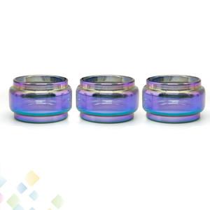 Bastone V9 Max esteso Pyrex tubo di vetro Rainbow Fat Boy sostituzione manica Bulb Bubble Tubi Vape E sigaretta gratis