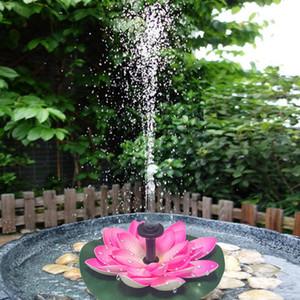 Piscina Accessori Solar Lotus Fontana Lotus Flower Fontana stagno del giardino solare della pompa ad acqua Cortile