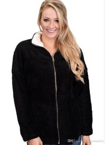 Lana Designer Winter Coat Lapel Neck Zipper caldo rivestimento lungo del manicotto Abbigliamento Donna Donna New Fashion