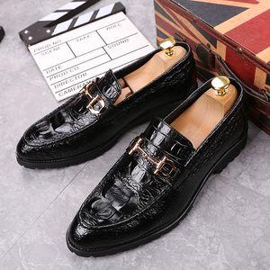 Amazing2019 grãos de couro de crocodilo Pé Tempo Lazer Masculino sapatos Penteado Division One Pedal dawdler Aumentar Shoes xshfbcl