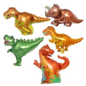 Mini Pequeno Dinossauro Foil Balão Animal Balões Meninos Presente Crianças Crianças Decoração de Festa de Aniversário