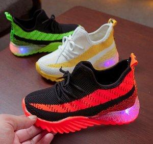 Brillantes Zapatos Led Para Niñas Primavera Otoño Cesta Led Niños Iluminación Zapatos Zapatillas Luminous Baby Kids Sneaker
