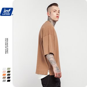 20ss Designer Brandmf Mens Clothing 2020G Weight New Style Loose Oversize European and American Solid Color Mens T-shirt Five-Point Sleeve