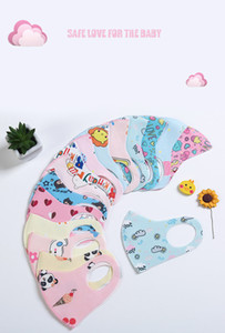 Designer Child Kids Respirator Cartoon Washable Boys Girls Mouth Mask Anti Pollution Print Reusable Cotton Face Masks