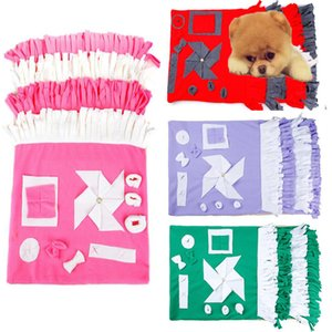 Dog Snuffle Feeding Mat Washable Pet Training Product Sniffing Fleece Pad for Dogs Cats Stress Interactive Toys Slow Feed Mat
