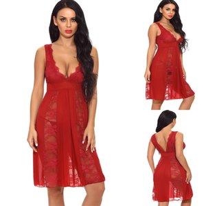 SEXY النساء اللباس جنسي الملابس الداخلية الرباط V عنق انظر من خلال ملابس النوم ملابس داخلية ملابس النوم اللباس زائد الحجم