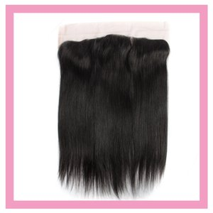 Raw cheveux indiens de Vierge 13x4 Dentelle Frontal avec bébé cheveux Nautral Couleur Treize By Four Frontal Top Closures