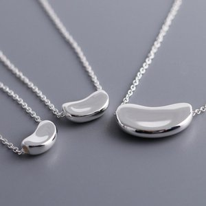 High quality 925 sterling silver pendants & necklaces for women fashion silver pea necklace brand design for couples