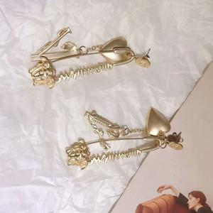 Metal do vintage do coração da cabeça Retrato Brinco Mulheres Designer Brinco presente para a amiga amor de alta qualidade