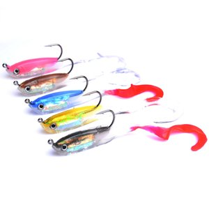 5-pieces Soft Baits Lead Fish 11cm 15g Silicone Fishing Lure Shad Artificial Bait Wobblers Fishing Gear Swimbait