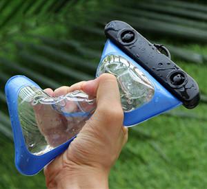 معظم النار PVC مضيئة الهاتف مقاوم للماء غطاء القضية لمدينة لمس موبايل فون 7 والدليل على المياه تحت الماء شفاف