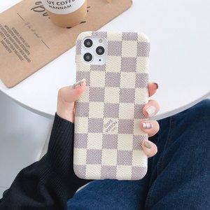 Top Designer pour iPhone 11 Pro Max XS XR X 8/7 plus Téléphone couverture arrière de cas de monogramme de marque pour Samsung Galaxy S9 S10 note 9 10 Shell A016
