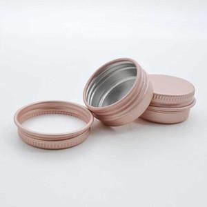 10g Rose Gold Empty alluminio contenitori cosmetici Pot Lip Balm vaso di cera di latta per Crema Pomata Crema Mani capelli Packaging logo casella personalizzata