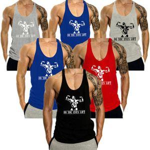 esportes dos homens Stock locais colete New Men Stringer Bodybuilding Regatas Tops Gym Fitness Singlet mangas Vest Tanque