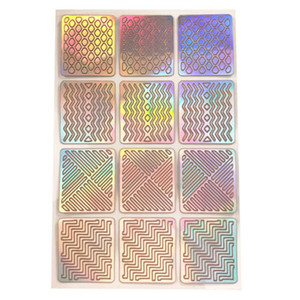 Plantillas de sellos de vinilos para uñas Creativo Laser Silver Sticker Nail Art Hollow Beauty Nail Foil Transfer Sticker Consejos para esmalte