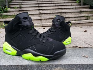 2019 6 white and black Fluorescent green wings VI men basketball shoes sports 6s outdoor trainers sneakers with box size 7-13 with box 10ct