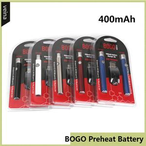 BOGO 예열 배터리 더블 펜 충전기 블리스 터 팩 키트 VV 400mAh O- 펜 BUD 터치 배터리 510 스레드 두꺼운 오일 카트리지