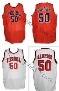 Ralph Sampson 50 personalizzato College Basketball Jersey Ricamo cucito Personalizza qualsiasi numero e nome Maglie