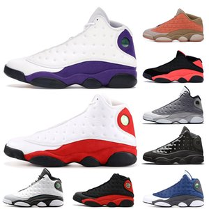 Nike Air Jordan  Retro 13 13s Lakers Chicago 13 13s Basketballschuhe Mütze und Kleid Atmosphäre Grau Clot Sepia Stein Flint Altitude Herren Trainer Damen Turnschuhe