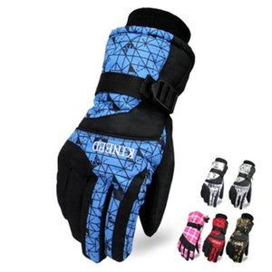 Guanti sci degli uomini di inverno antivento riscaldata addensato impermeabili Guanti Snowboard Sci Moto Ciclismo Arrampicata Mitten LJJZ571
