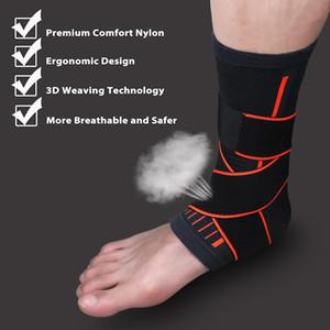 1шт плетение эластичный нейлоновый ремешок лодыжки поддержки скобка бадминтон баскетбол футбол Тхэквондо фитнес пятки протектор