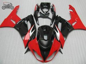 carenados de la motocicleta para 09 10 11 12 KAWASAKI NINJA ZX 6R ZX6R kits de 636 ZX636 rojo de encargo negro kit de carenado 2009-2012 ZX6R