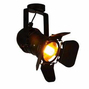 Урожай театр Эдисон лампы прожекторы потолочные Свет Промышленные ретро Ресторан выборочные лампы черный Магазин одежды Бар настенные лампы 110-240