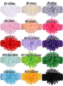 2019 Girls Headbands Bowknot Hair Accessories For Girls Infant Hair Band For Girls Headwear Chiffon Flower Baby Hair Band