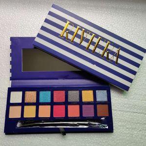 2019 novas paletas de maquiagem da marca riviera 14 cores paletas de sombras shimmer matte sombra de olho macio novina modernprim beleza paleta dhl
