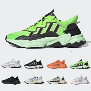 Erkekler Kadınlar Neon Yeşili Güneş Sarı Cadılar Bayramı Sesleri Çekirdek Siyah Eğitmen Spor Spor ayakkabılar 36-45 Koşu Ayakkabıları için Kalın Turuncu Pride Xeno Ozweego