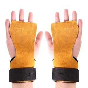 1 paio Fitness Safty Pad antiscivolo antiruggine a mano Grip Pad Palm Protect supporto per il polso Wrap Guanti accessori Formazione Nuove