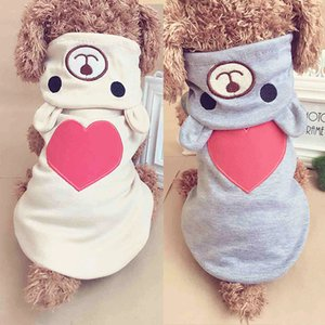 Cute Dog Clothes For Small Dog Cotton Clothing Coat Hoodies For Chihuahua Pets Dogs Warm Clothes Pajamas Love Bear Costume
