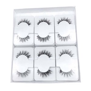 Logo libre Impression humaine Lashes cheveux bande transparent naturel Cils main cilios confortable réutilisable Wispy faux cils Extension