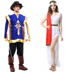 Costume de fête Festival Costume Halloween Thème Vêtements Ancient Greek Greek Mythology Déesse Roman Parliament Vêtements Costume Samouraï pour Adultes 06