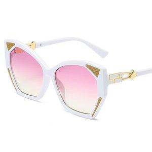 New Big Frame Polygon Sunglasses European American Fashion Women Glasses Personality High-End Fashionable Sunglasses