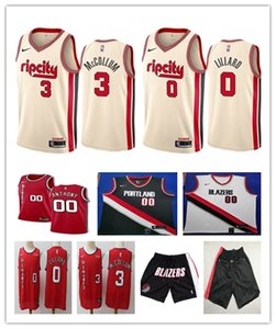 MenPortlandTrailBlazers 00 Carmelo Anthony Black White Swingman Jersey Short