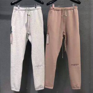 calças Carta bordado real Pics ultimos Top Hip Hop 3M Lazer Calças Streetwear Homens Mulheres Cotton Moda Sweatpants