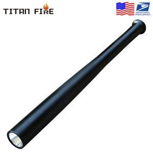 LED lampe de poche rechargeable T6 multi-fonction de sécurité Masse dur portable Autodéfense batte de baseball Lampe torche pour urgence