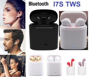 wholesale Bluetooth Headphones I7 I7S TWS Twins Earbuds Mini Wireless Earphones Headset with Mic Stereo V4.2 for phone Android with Package