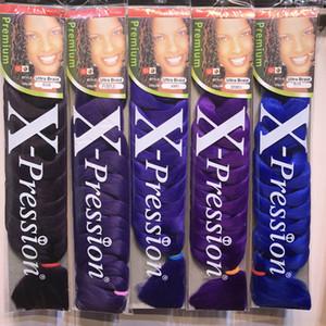 Synthetic 82inch Xpression tranças Weave Cabelo JUMBO tranças Ultra Tranças Granéis Croxhet extensão do cabelo Tranças Atacado Cheveux DHGATE