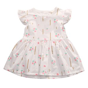2017 Toddler Kids Baby Girls Flower Princess Dress Summer New Party Pageant Wedding Mini Dresses