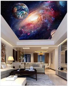 Custom photo wallpapers 3d ceiling murals wallpaper Starry Milky Way Planetary Living Room Zenith Mural wall papers
