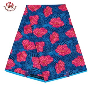 Nueva tela de estampados de cera de poliéster 2019 Ankara Binta cera real de alta calidad 6 yardas tela africana para vestido de fiesta FP6119