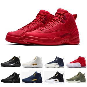 41-47 Winterized CNY Ginásio Vermelho 12 XII 12 s homens de basquete Athletic Shoes Bordeaux playoffs alta Branco Asas Francês Azul Sports Sneakers