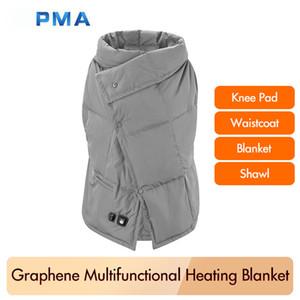 الأصلي XIAOMI Youpin PMA الجرافين متعدد الوظائف التدفئة بطانية دافئة قابل للغسل الصدرية الخفيفة حزام دافئ سريع مكافحة السمط 3001680